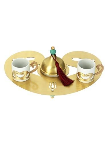 Decoristan Vav Kahve Seti Altın